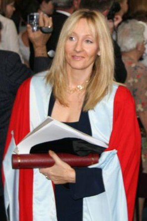 JK Rowling, after receiving an honorary degree from The University of Aberdeen