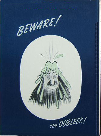Bartholomew and the Oobleck first edition back cover