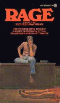 Rage by first editon Richard Bachman ( Stephen King ) Front Cover
