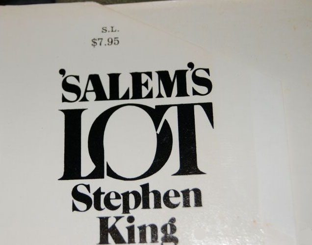 Salem's Lot Price Clip with $7.95